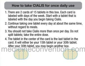Cialis – instructions for using