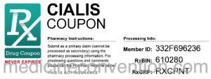 What is a Cialis coupon – what are the benefits